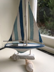 sailing ship on the windowsill