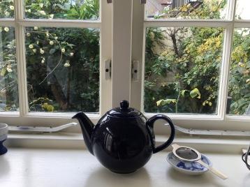 teapot on with windowsill
