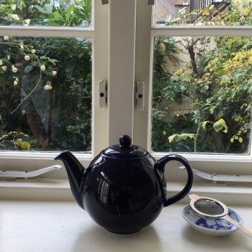 teapot on with windowsill